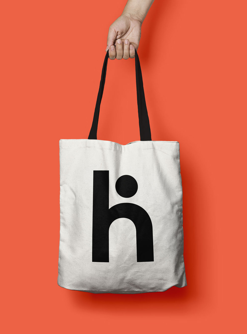 Tote bag with Hero Meals logo