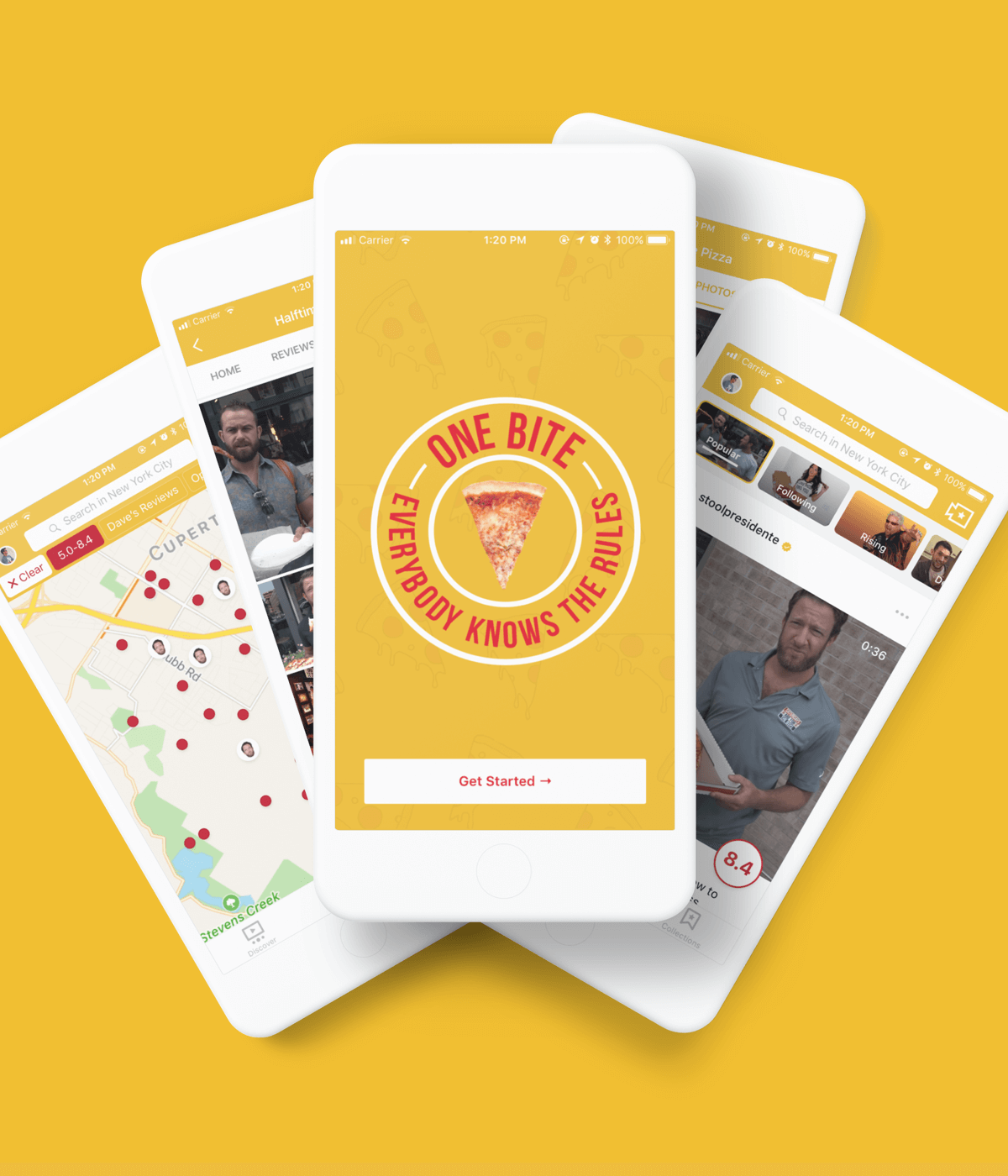 One Bite iOS Application in collaboration with Barstool Sports