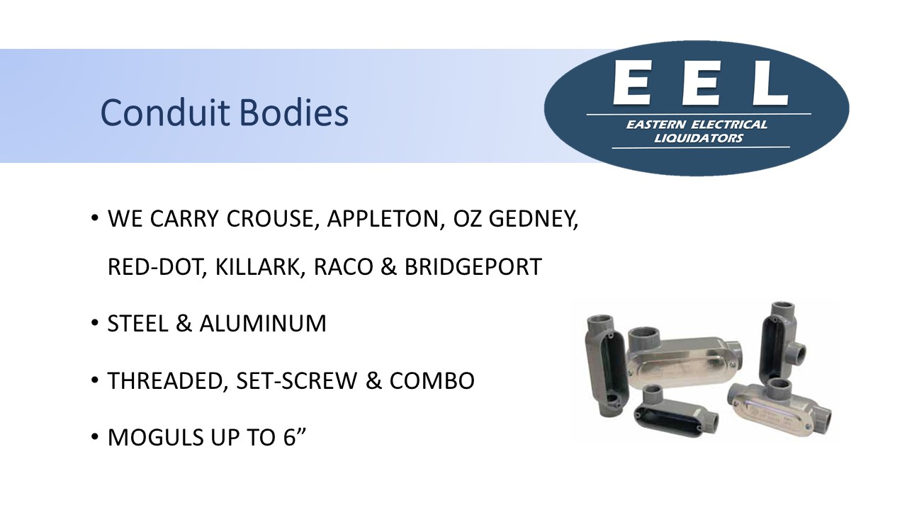 Conduit bodies (EEL)