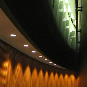 accent lighting in a theater