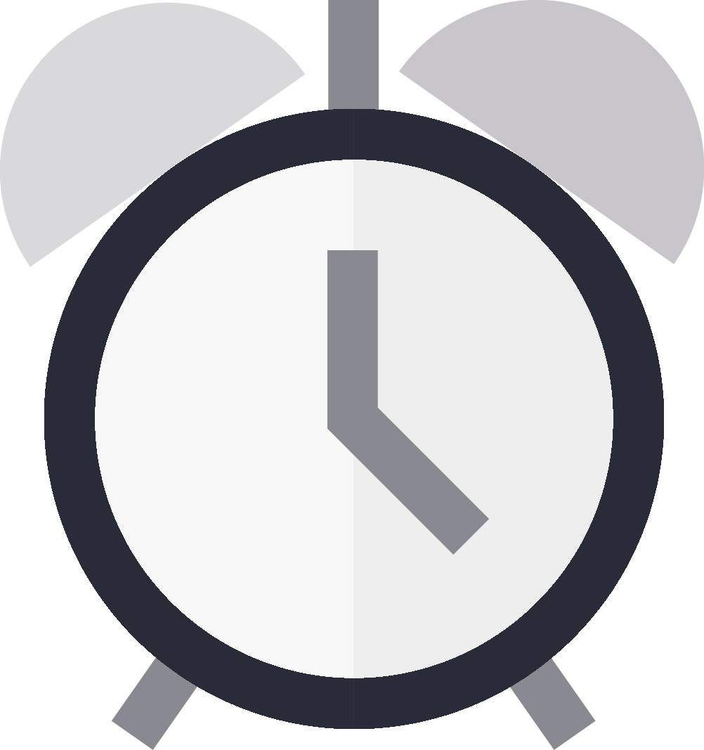 An alarm clock icon