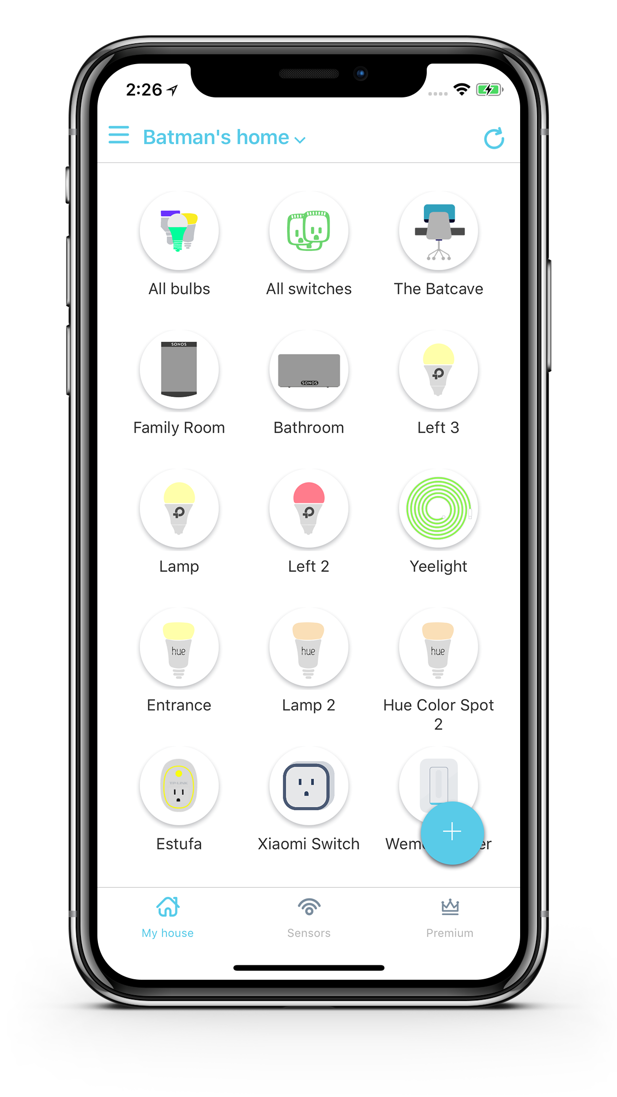 Yeti - The best app to control your Osram Lightify Lights