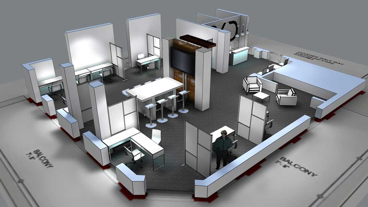 3D Architectural Mockup