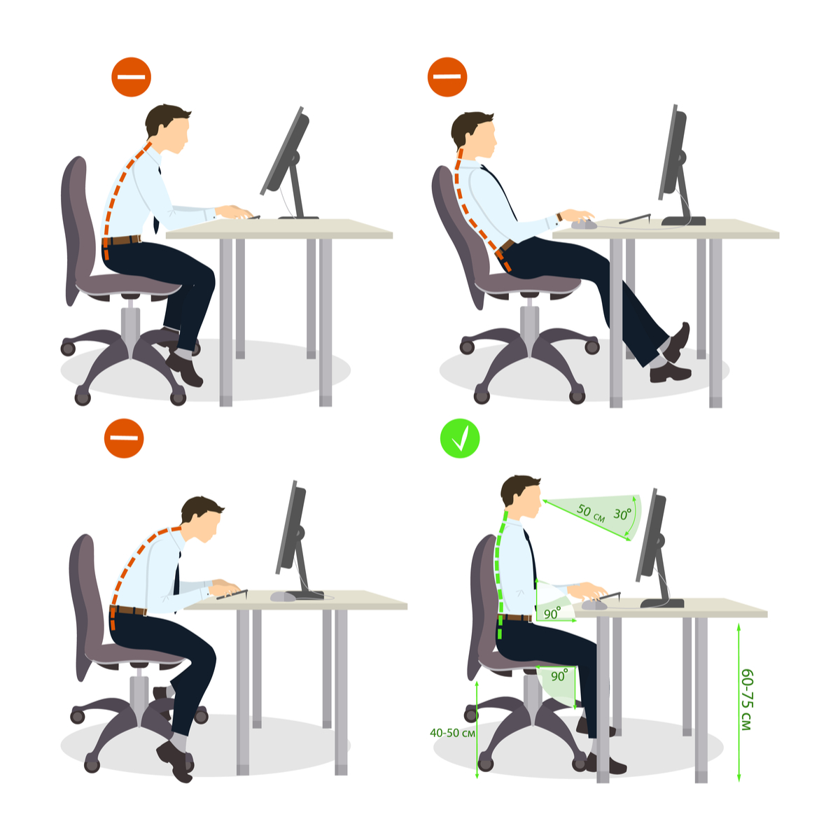 How to properly sit at your desk