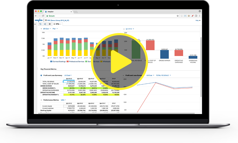 Play the Anaplan for Finance Demo