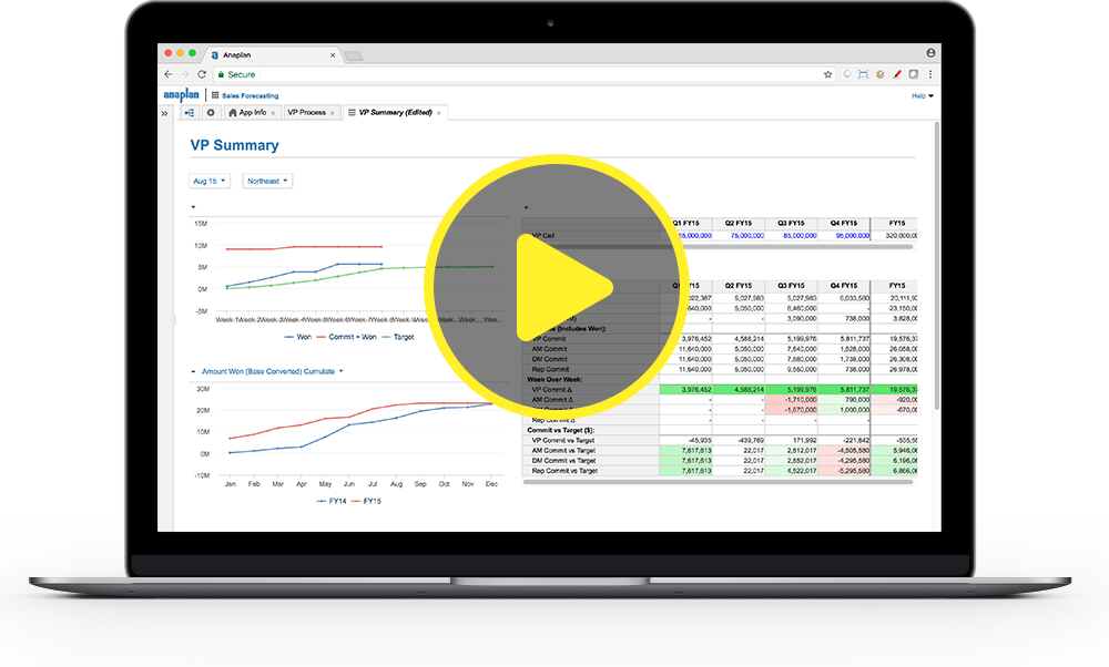 Play the Anaplan for Sales Demo