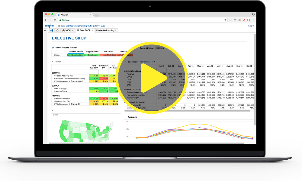 Play the Anaplan for Supply Chain Demo