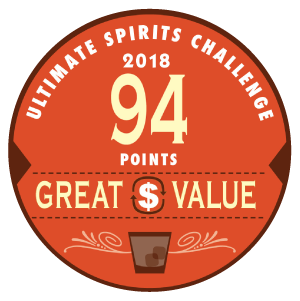 Great Value Medal: Ultimate Spirits Challenge 2018, 94 points
