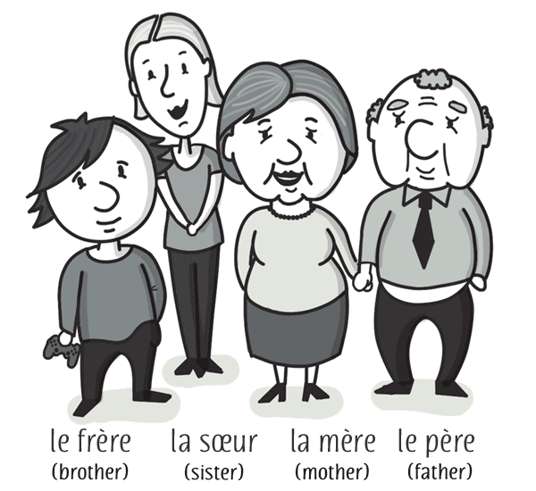 family vocabulary with audio free french lesson