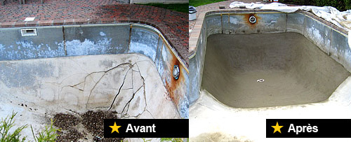 Pool repair - swimming pool repair service, concrete pool, gunite ...