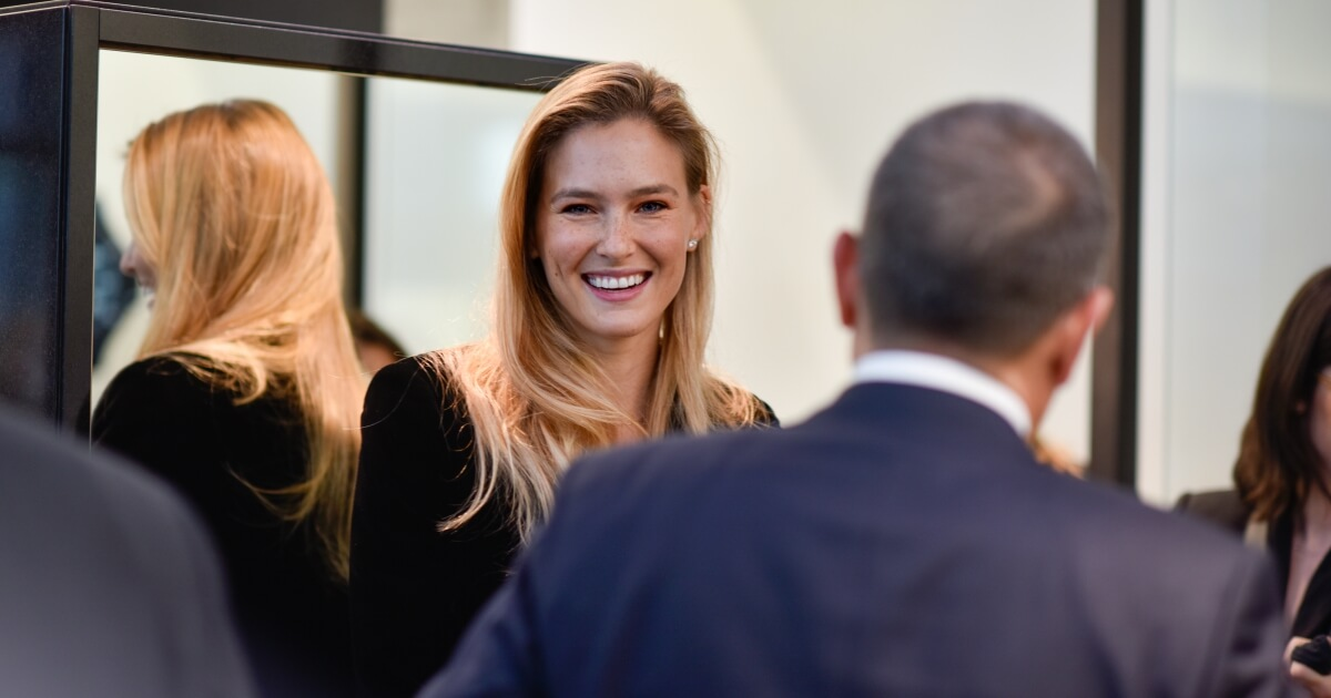A Unique moment with BAR REFAELI to close a week long celebration of the International Women's Day