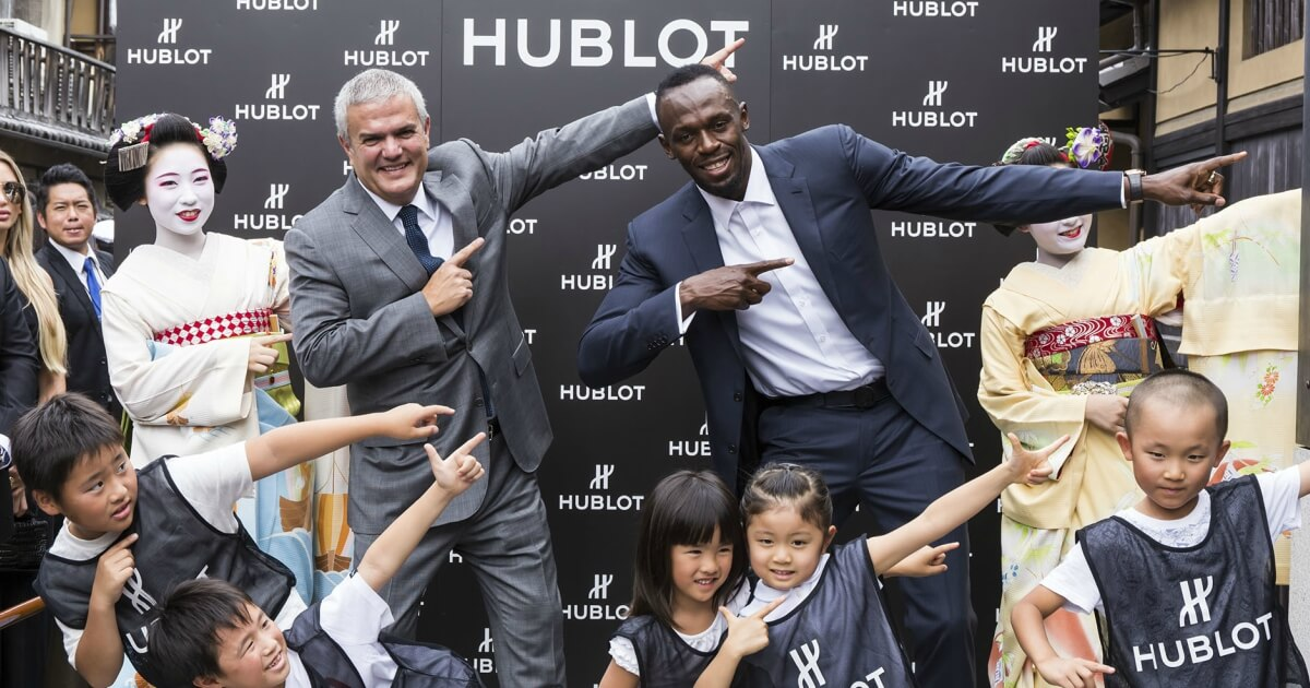 Usain Bolt to celebrate the opening of the Hublot Boutique Kyoto