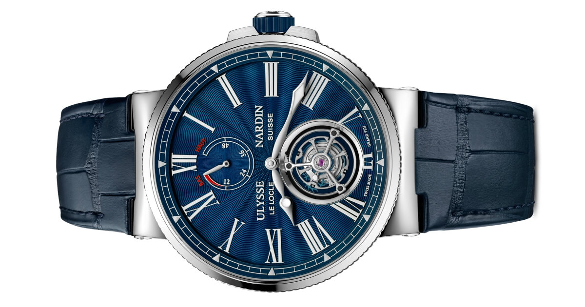 Ulysse Nardin Marine Tourbillon Blue Grand Feu