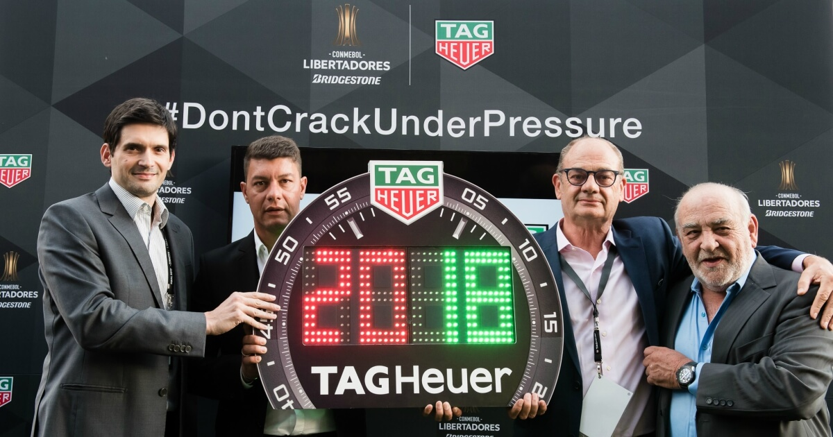 TAG Heuer Becomes Official Timekeeper And Official Watch  Of Copa CONMEBOL Libertadores