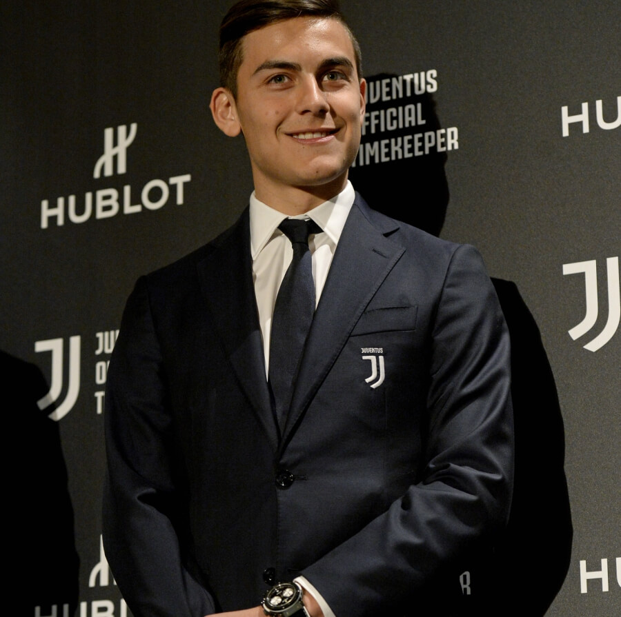 Dybala and The Hublot New Classic Fusion Chronograph Juventus