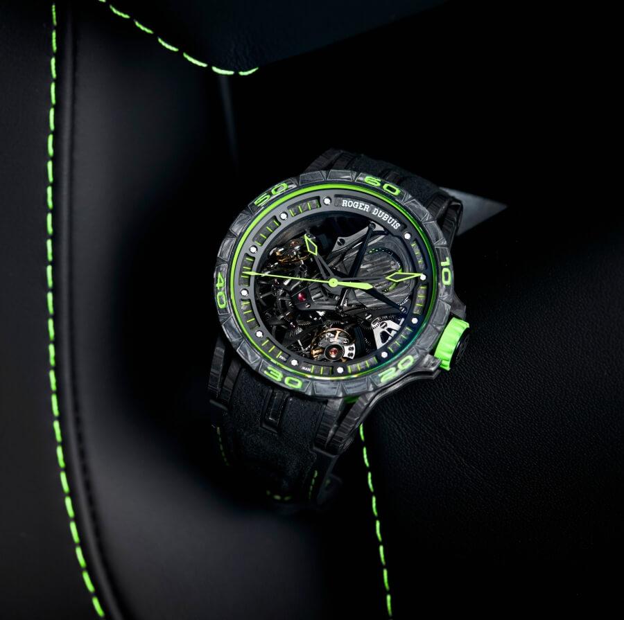 Roger Dubuis Excalibur Aventador S Green