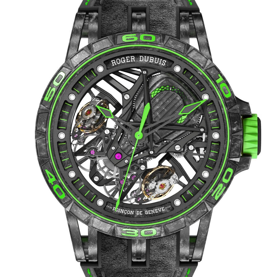 The New Roger Dubuis Excalibur Aventador S Green