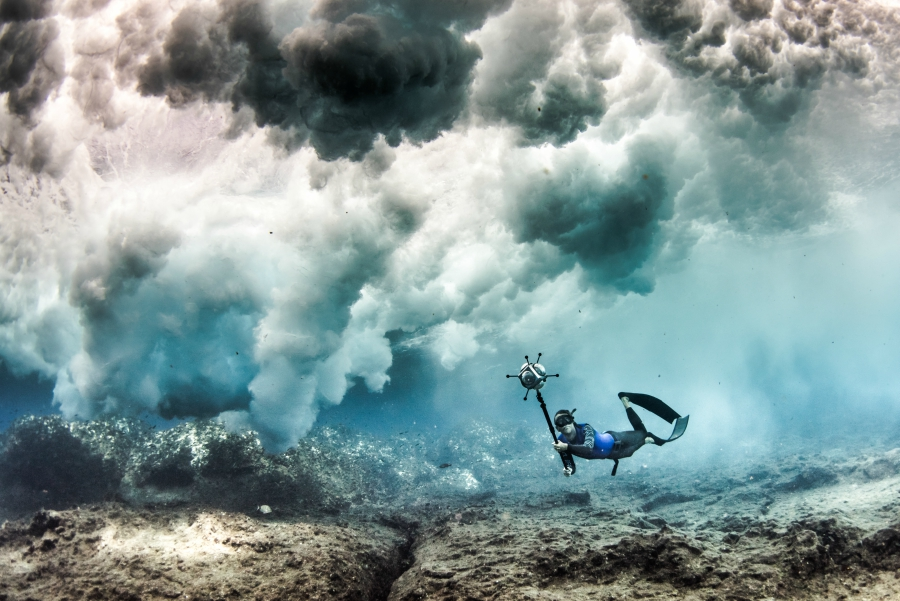 Free Diver Fred Buyle And His Watch
