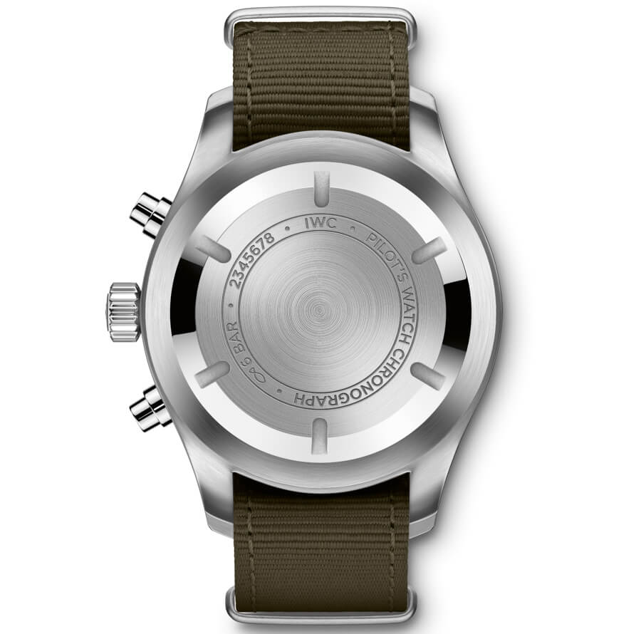IWC Pilot's Watch Chronograph In The Original Design From 1994 Case Back