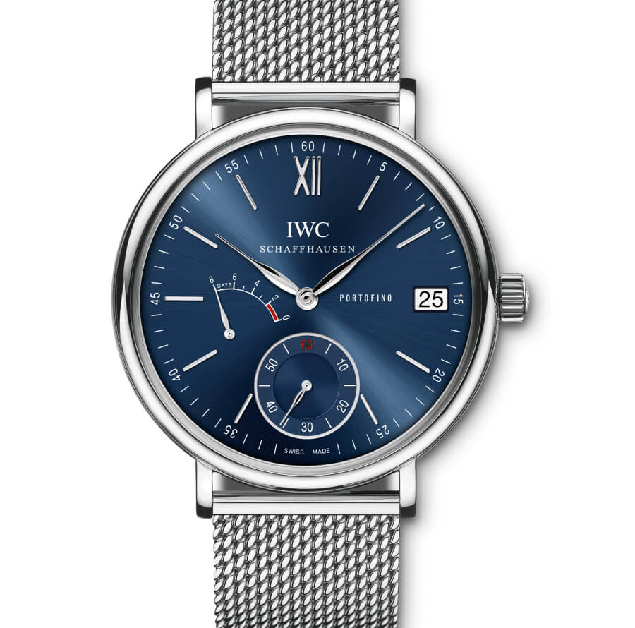 IWC Portofino Hand-Wound Eight Days Blue Dial