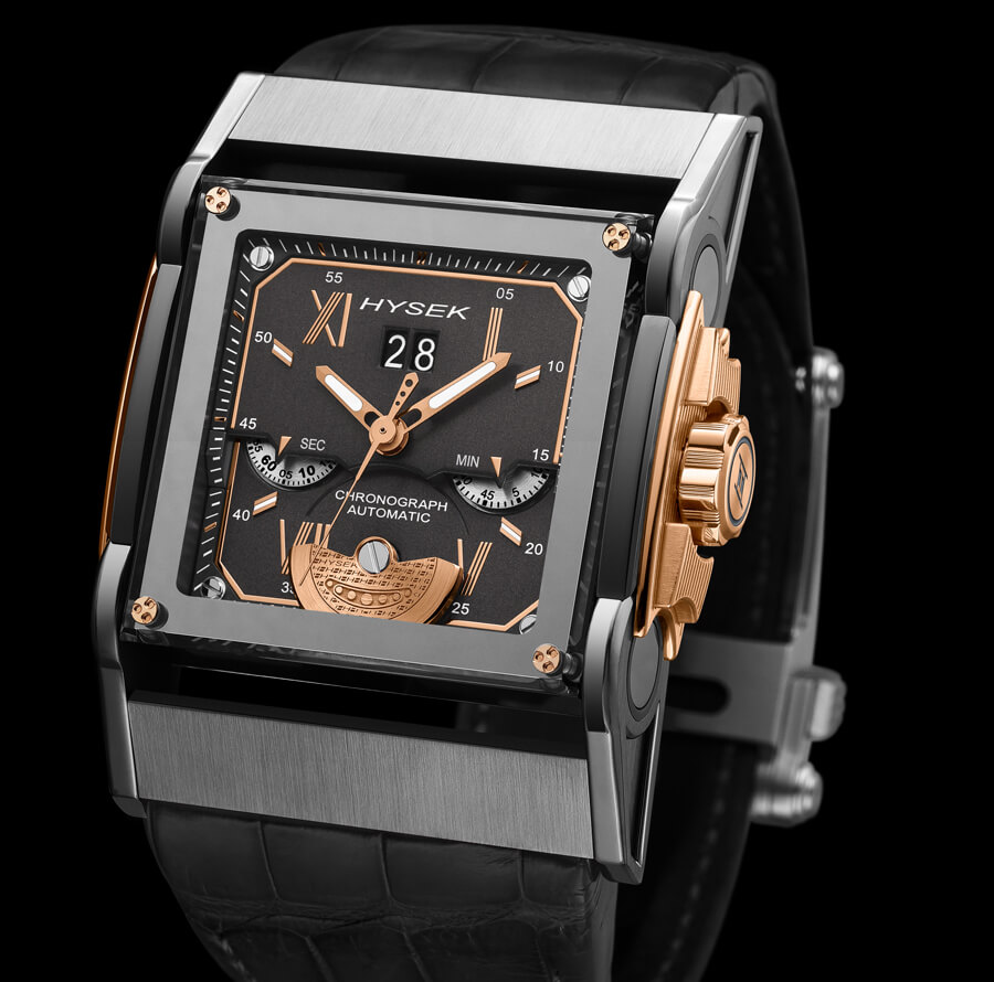 Hysek Chronograph Grande Date Watch