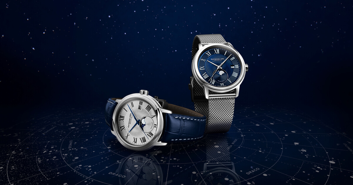 Introducing - The New Raymond Weil Maestro Moon Phase (Specifications and Prices)