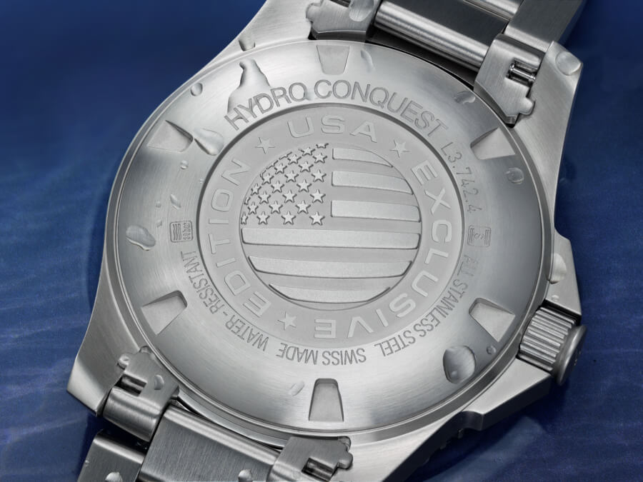 Longines USA Exclusive HydroConquest Edition Case Back