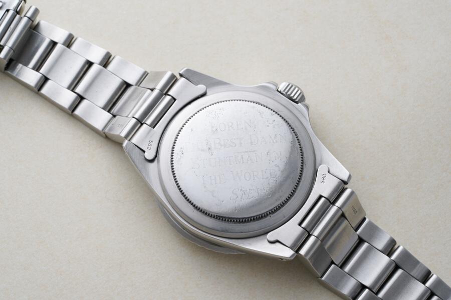 Steve McQueen's Rolex Submariner Wristwatch  Case Back