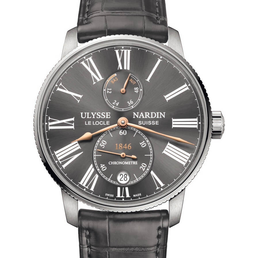 Ulysse Nardin Marine Torpilleur Boutique Only Edition in grey color