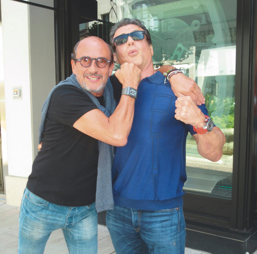 Richard Mille and Sylvester Stallone