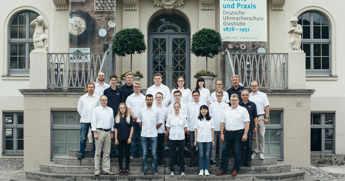 """New class of students at the """"Alfred Helwig"""" School of Watchmaking"""