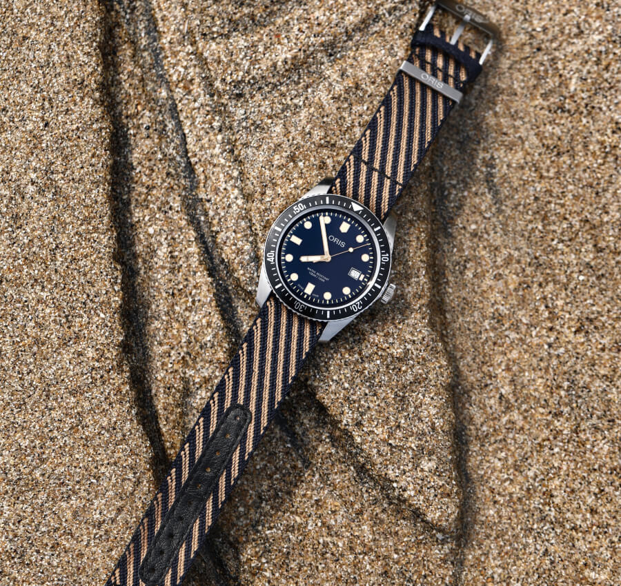 The New Oris Divers Sixty-Five on a r-Radyarn strap