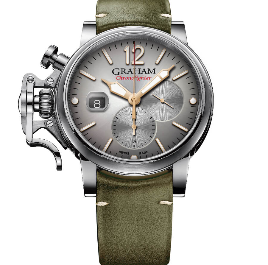 Millitary Watch Graham Chronofighter Grand Vintage