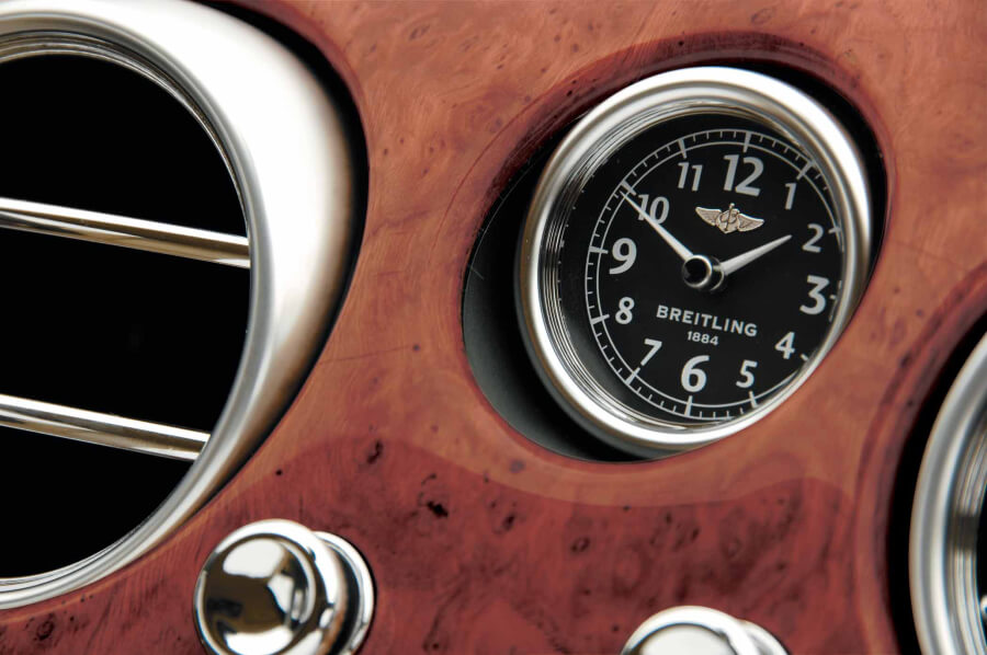 Breitling onboard clock for the Bentley Continental GT