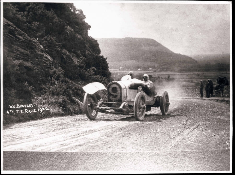 W O Bentley driving the 3 Litre at the 1922 TT