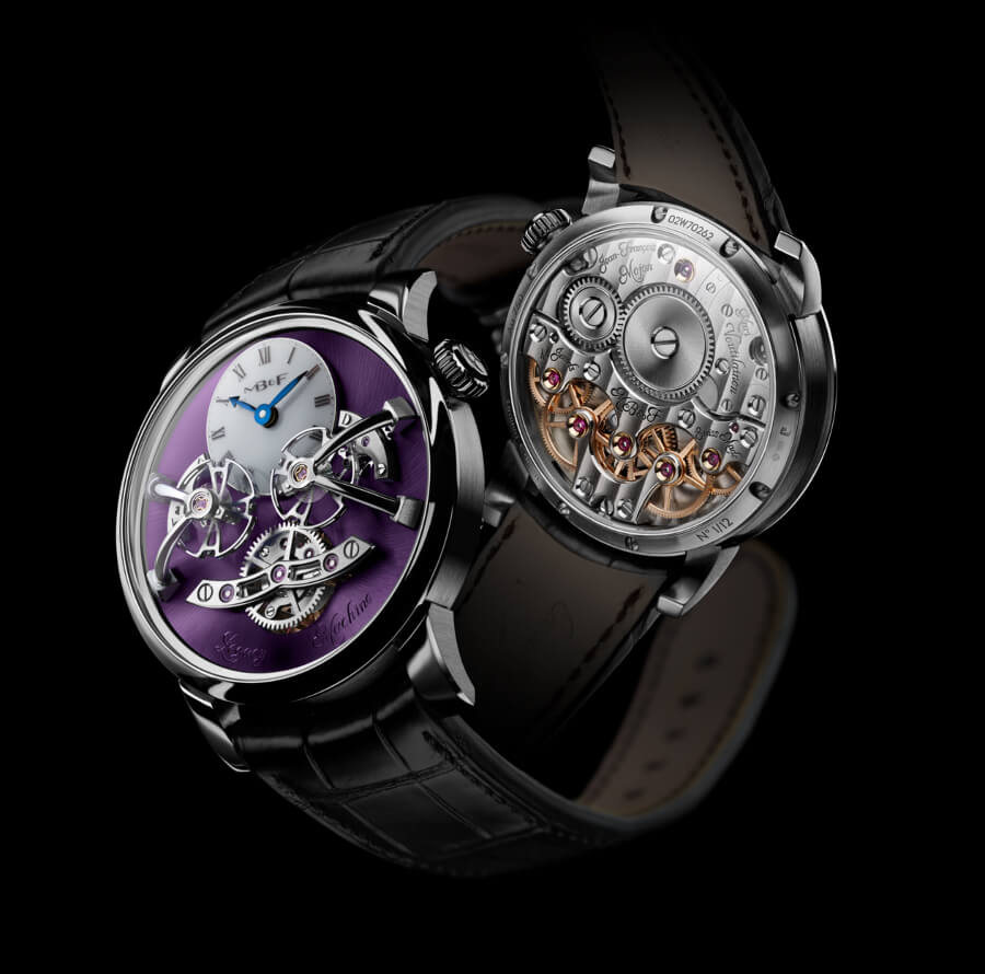 The New MB&F Legacy Machine No2 White Gold Purple