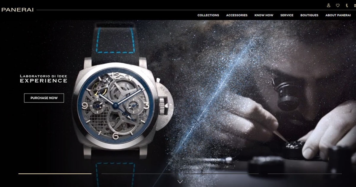 Panerai Modernises Its Website And Launches E-Commerce For Europe