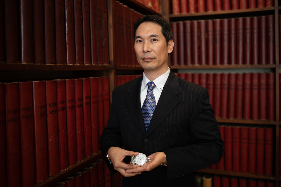Seiji K. visiting the headquarters of Longines in October 2018