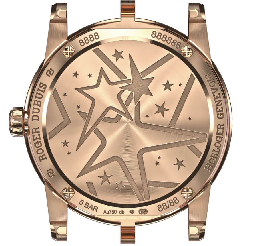 Roger Dubuis Excalibur 36 Shooting Star Timepiece Case Back