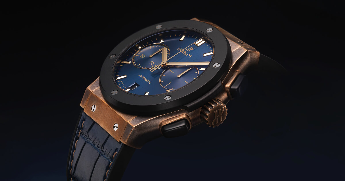 Hublot Classic Fusion 45mm Chronograph Bronze Bucherer Blue Edition (Pictures and Specifications)