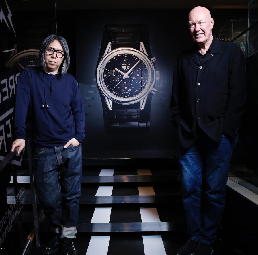 Hiroshi Fujiwara and Jean-Claude Biver