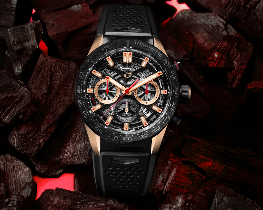 The New TAG Heuer Carrera Carbon Rose Gold