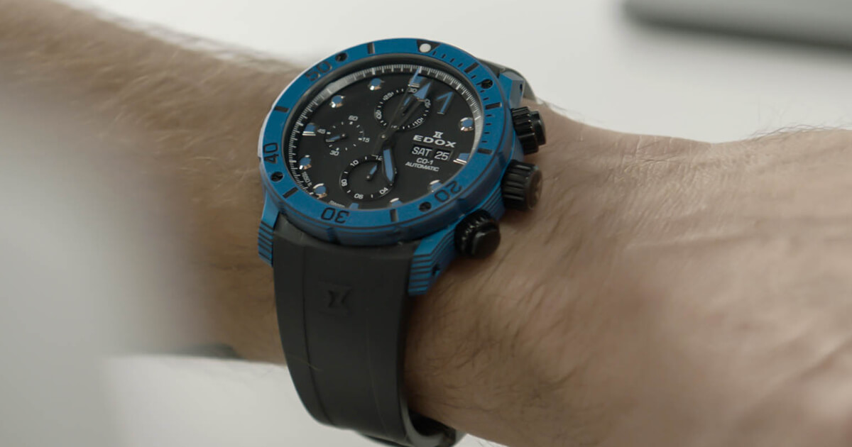 The New Edox CO-1 Carbon Chronograph Automatic (Pictures and Price)