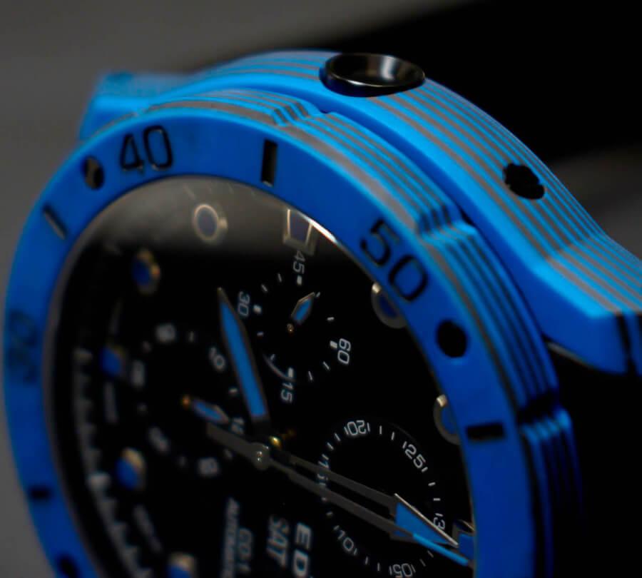 Edox Co-1 Carbon Chronograph Automatic Helium Vave