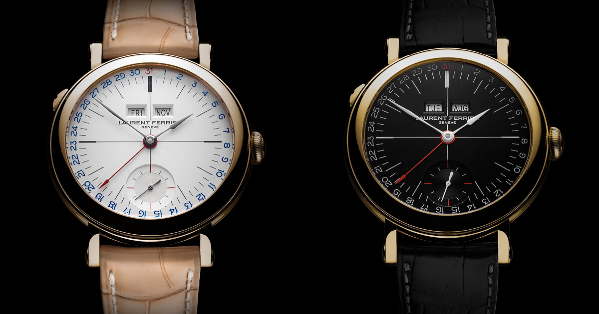 Pre SIHH 2019: Laurent Ferrier Galet Annual Calendar School Piece Opaline Black & White