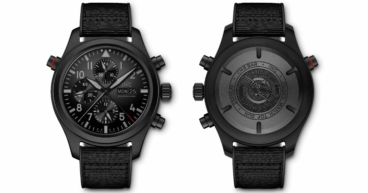 Pre SIHH 2019: IWC Pilot's Watch Double Chronograph Top Gun Ceratanium