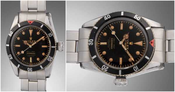 "The Rolex ""Big Crown"" Ref. 6538 Aka ""James Bond"" Submariner Sold For $567,000"