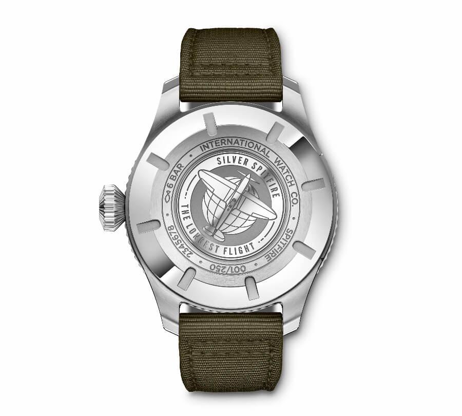 IWC Pilot's Watch Timezoner Spitfire Edition The Longest Flight Case Back
