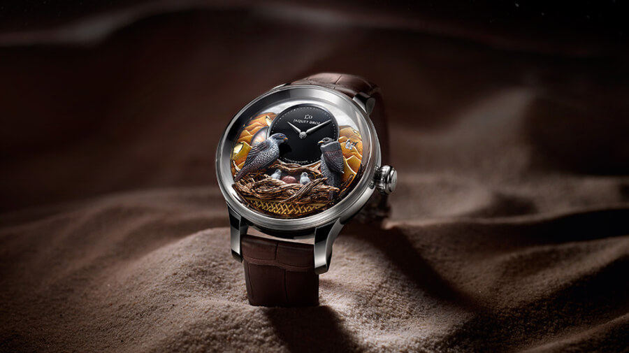 The New Jaquet Droz Bird Repeater Falcon