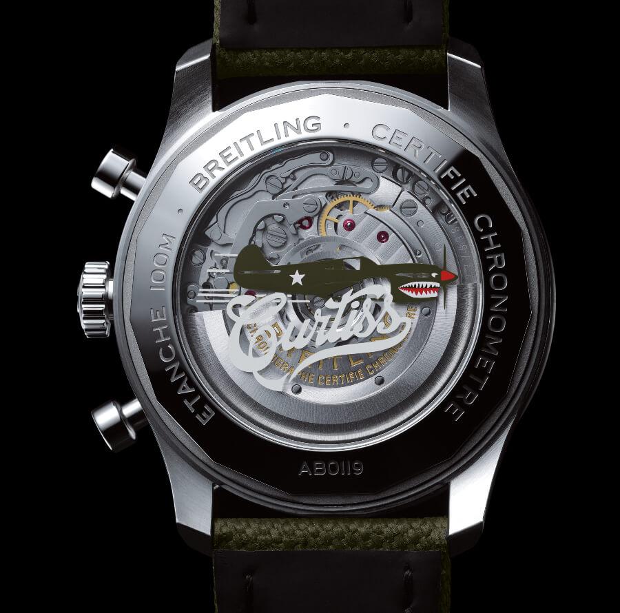 Breitling Aviator 8 B01 Chronograph 43 Curtiss Warhawk Movement